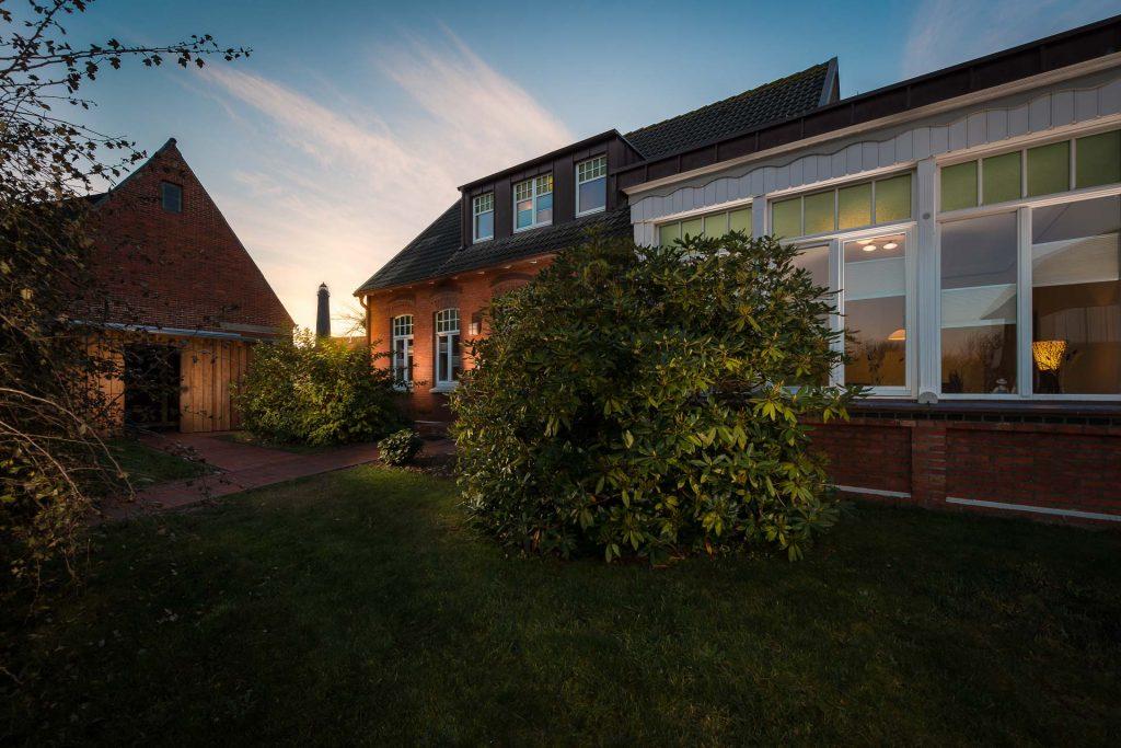 Außenansicht des Haus Norderreihe der Borkum Leben Ferienwohnungen