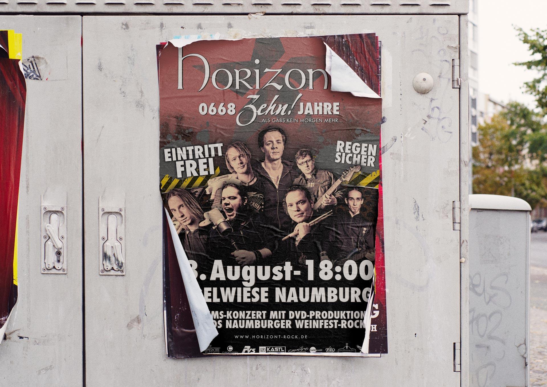 Plakat der Band Horizont