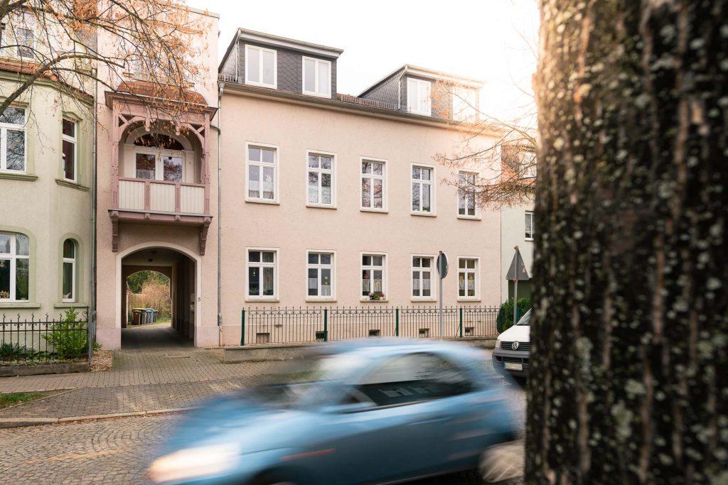 Außenansicht einer Wohnstätte der Lebenshilfe Naumburg