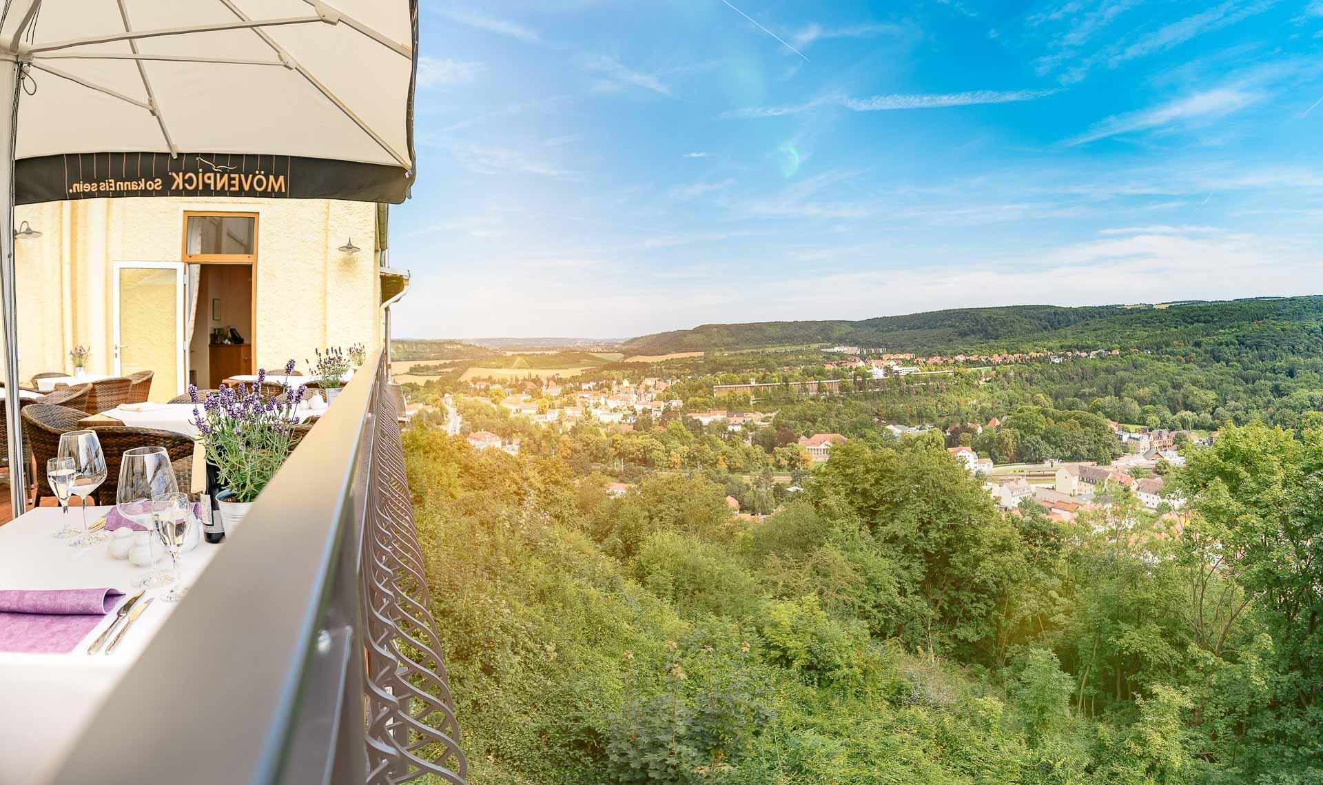 Sonnenterrasse des Berghotel Wilhelmsburg