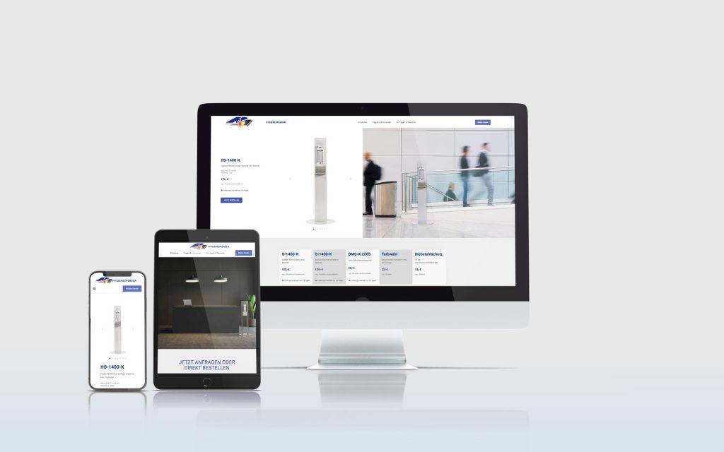 Mockup der Website der Firma Rößler GmbH