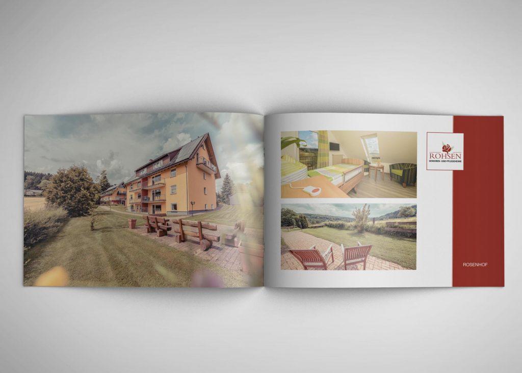 Broschüre der RohSen Senioren- und Pflegeheime GmbH
