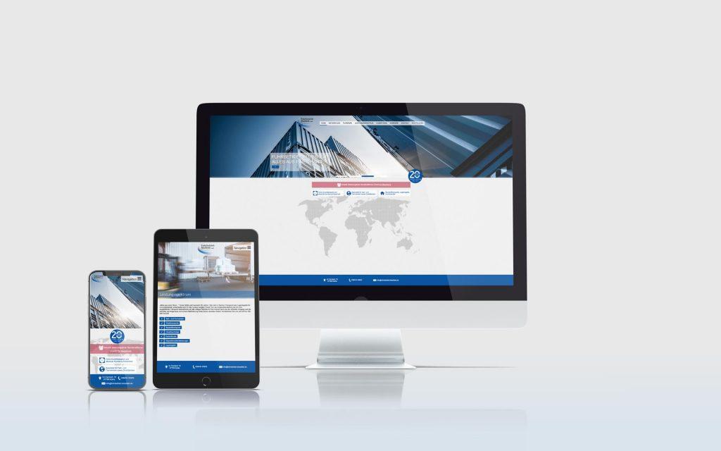 Mockup der Website der Firma Fuhrbetrieb Bloßfeld